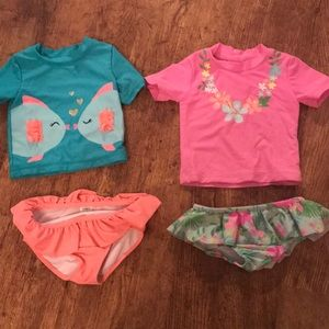 18 month girls swim suit set